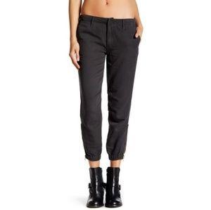 Mother Misfit Crop charcoal jogger pants